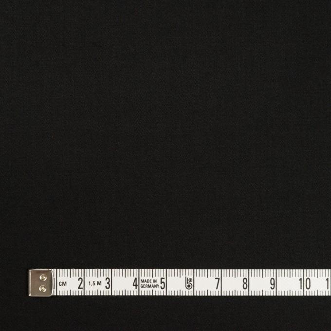 コットン&ポリウレタン×無地(ブラック)×サテンストレッチ_全2色_イタリア製 イメージ4