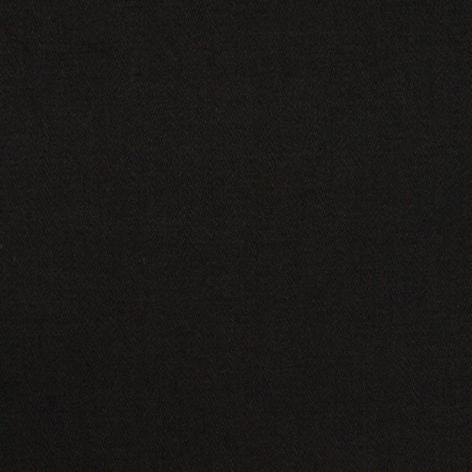 コットン&ポリウレタン×無地(ブラック)×サテンストレッチ_全2色_イタリア製 イメージ1