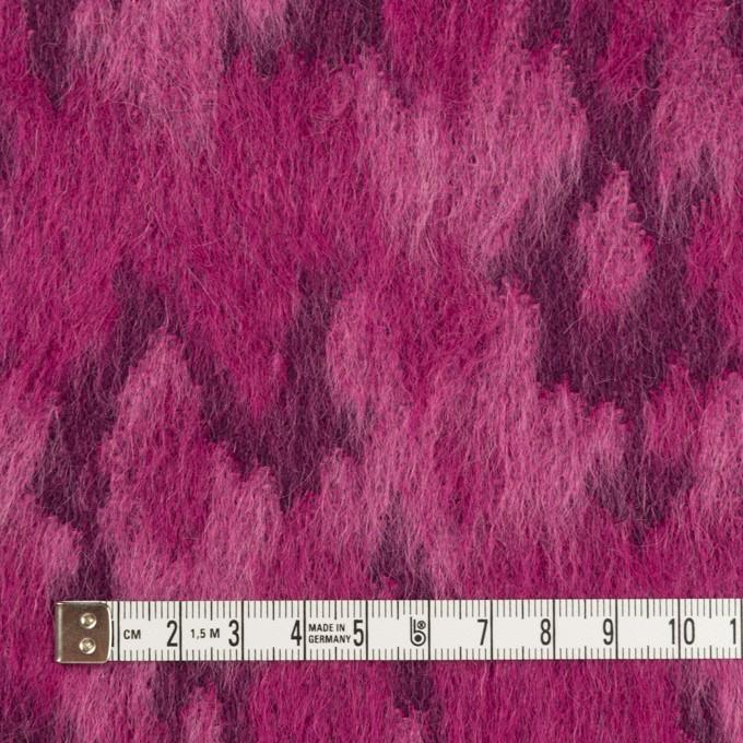 ウール&モヘア×幾何学模様(チェリーピンク)×シャギー_全2色 イメージ4