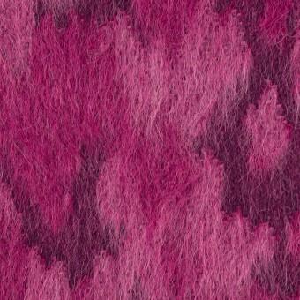 ウール&モヘア×幾何学模様(チェリーピンク)×シャギー_全2色