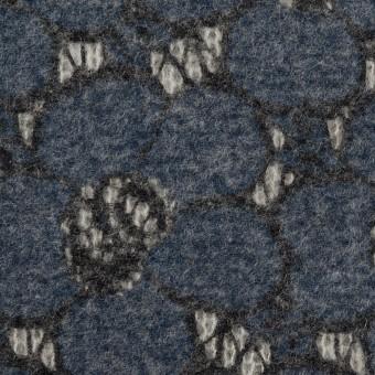 アクリル&ナイロン混×フラワー(アッシュネイビー)×メッシュニット&ラッセルレース_全2色