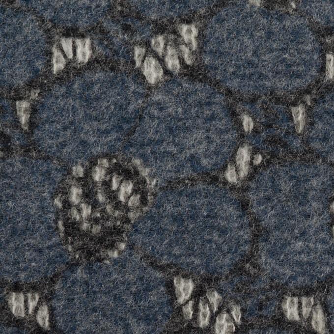 アクリル&ナイロン混×フラワー(アッシュネイビー)×メッシュニット&ラッセルレース_全2色 イメージ1