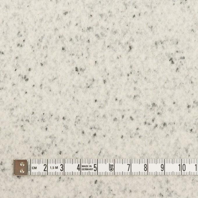 ウール&ナイロン×ミックス(アイボリー&ブラック)×圧縮ニット イメージ4