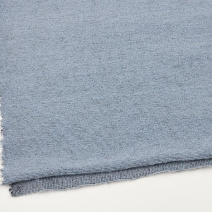 モヘア&ウール混×無地(ブルーグレー)×ループニット_イタリア製 イメージ2