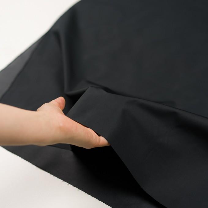 ポリエステル×無地(ブラック)×形状記憶タフタ イメージ5