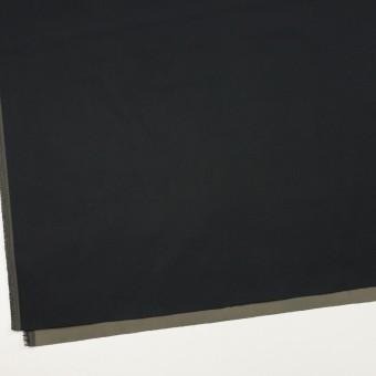 ポリエステル×無地(ブラック&オリーブグリーン)×形状記憶・二重織 サムネイル2