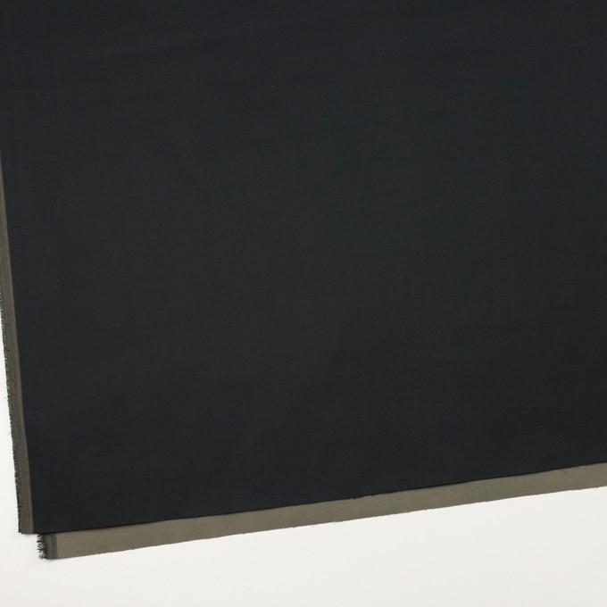 ポリエステル×無地(ブラック&オリーブグリーン)×形状記憶・二重織 イメージ2