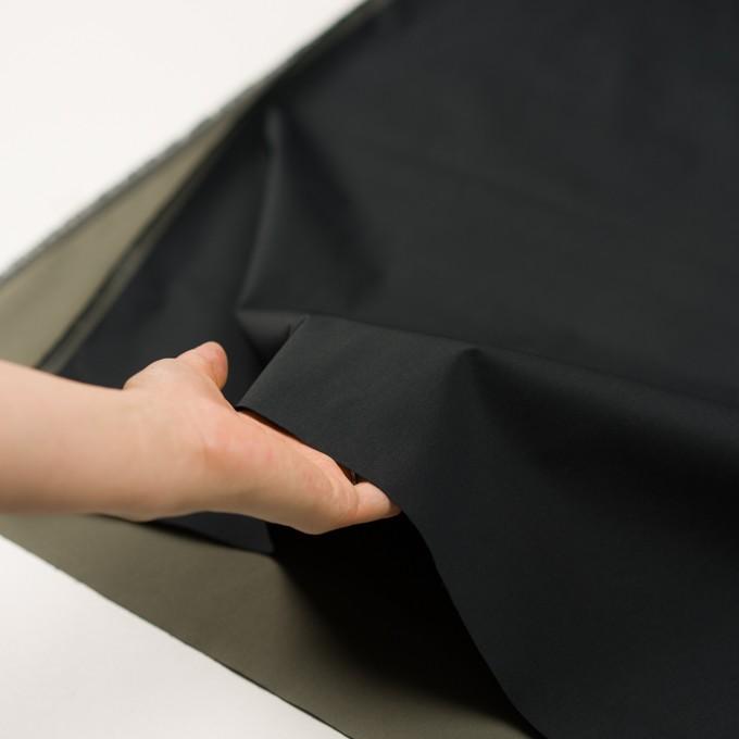 ポリエステル×無地(ブラック&オリーブグリーン)×形状記憶・二重織 イメージ5