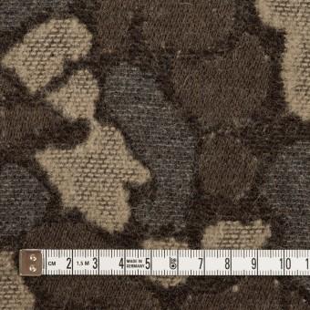 ウール&ポリエステル混×幾何学模様(グレー&モカブラウン)×ジャガード_全2色 サムネイル4