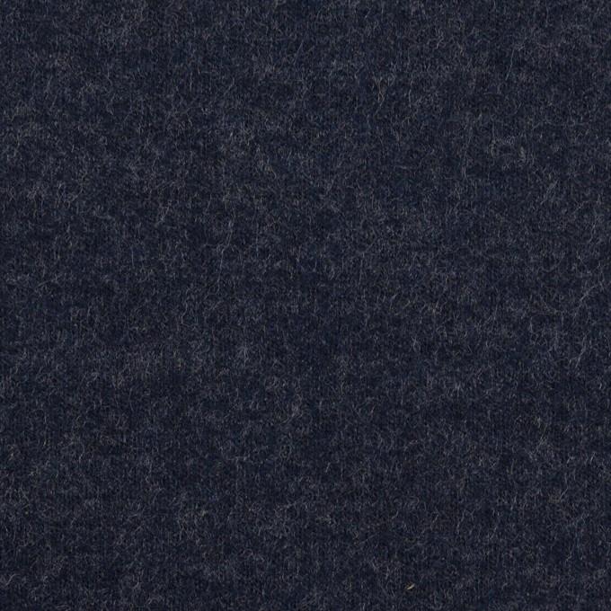 ウール×無地(アッシュネイビー)×圧縮ニット イメージ1