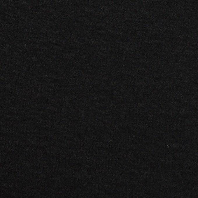 ウール×無地(ブラック)×圧縮ニット イメージ1