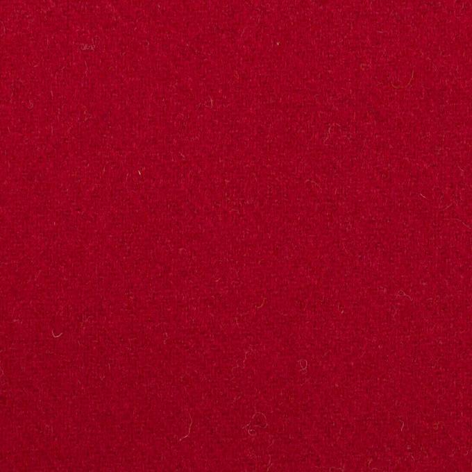 ウール×無地(バーガンディーレッド)×ソフトメルトン_全2色 イメージ1