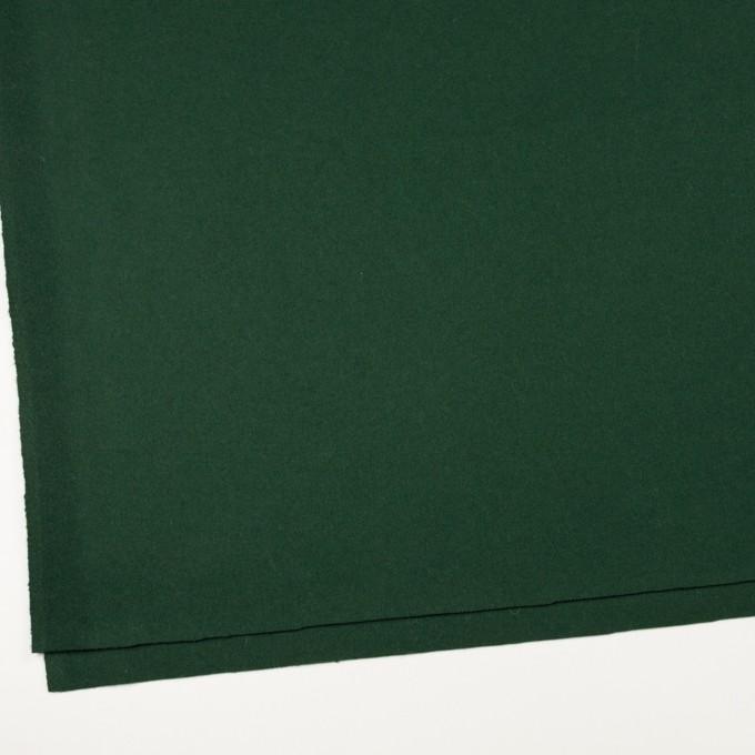ウール×無地(モスグリーン)×フラノ(フランネル) イメージ2