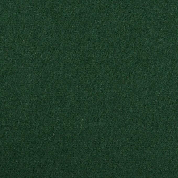 ウール×無地(モスグリーン)×フラノ(フランネル) イメージ1