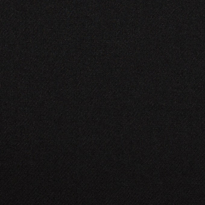 ウール&ポリウレタン×無地(ブラック)×サージストレッチ イメージ1