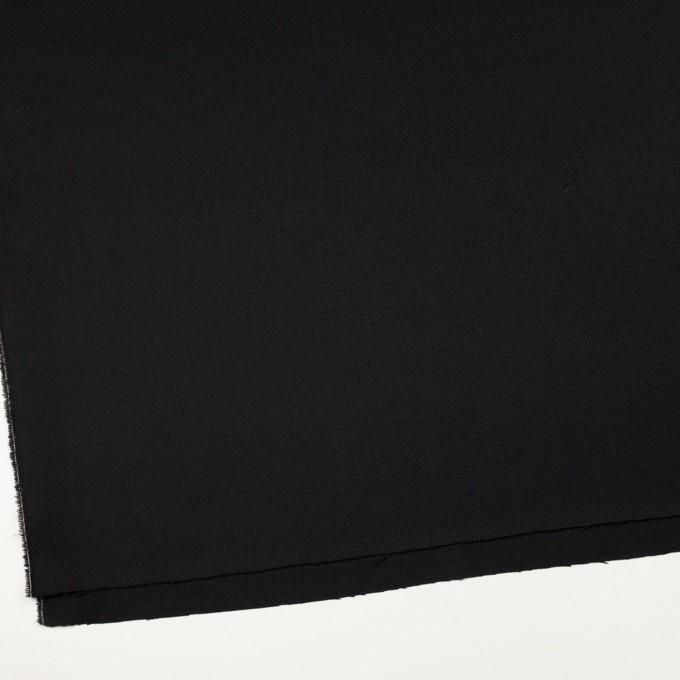 ウール×無地(ブラック)×サキソニー イメージ2