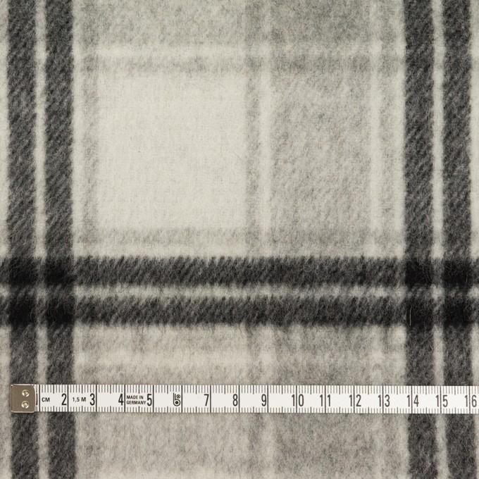 ウール&カシミア×チェック&無地(グレー&アイボリー)×Wフェイスビーバー イメージ4