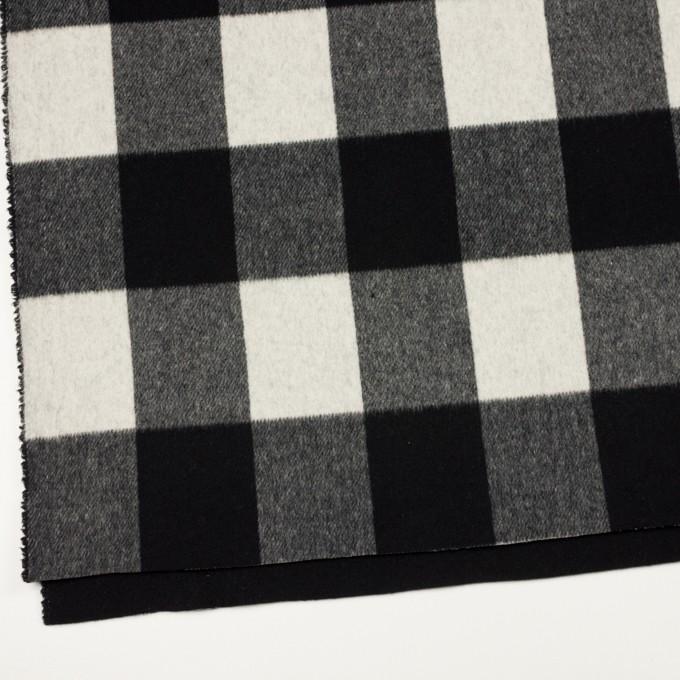 ウール&カシミア混×チェック&無地(ブラック&アイボリー)×ビーバー&フラノ(Wフェイス) イメージ2