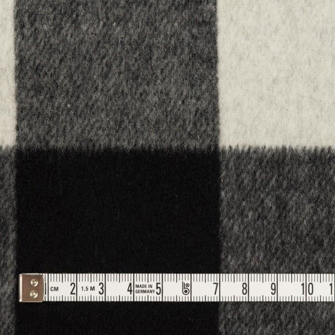 ウール&カシミア混×チェック&無地(ブラック&アイボリー)×ビーバー&フラノ(Wフェイス) イメージ4