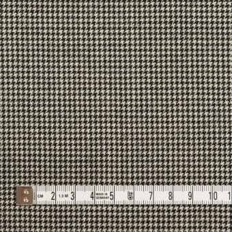 ウール&ナイロン混×チェック(キナリ&ブラック)×千鳥格子ストレッチ サムネイル4