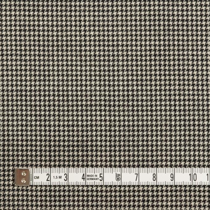 ウール&ナイロン混×チェック(キナリ&ブラック)×千鳥格子ストレッチ イメージ4