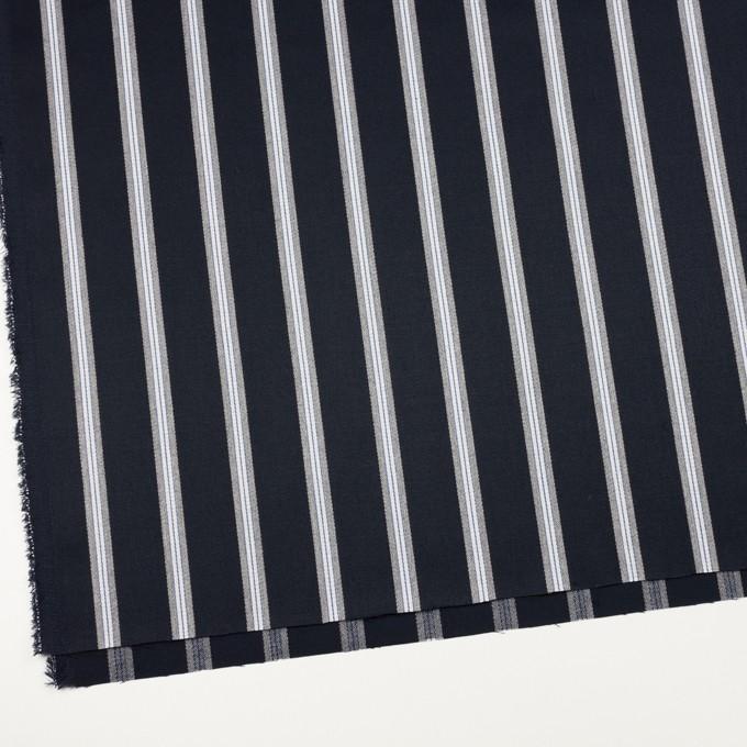 ウール&ポリエステル×ストライプ(ネイビー&グレー)×ベネシャン イメージ2
