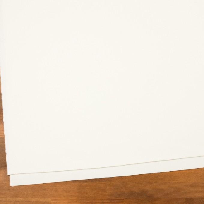 ウール&ナイロン×無地(ミルキーホワイト)×フラノ(フランネル) イメージ2