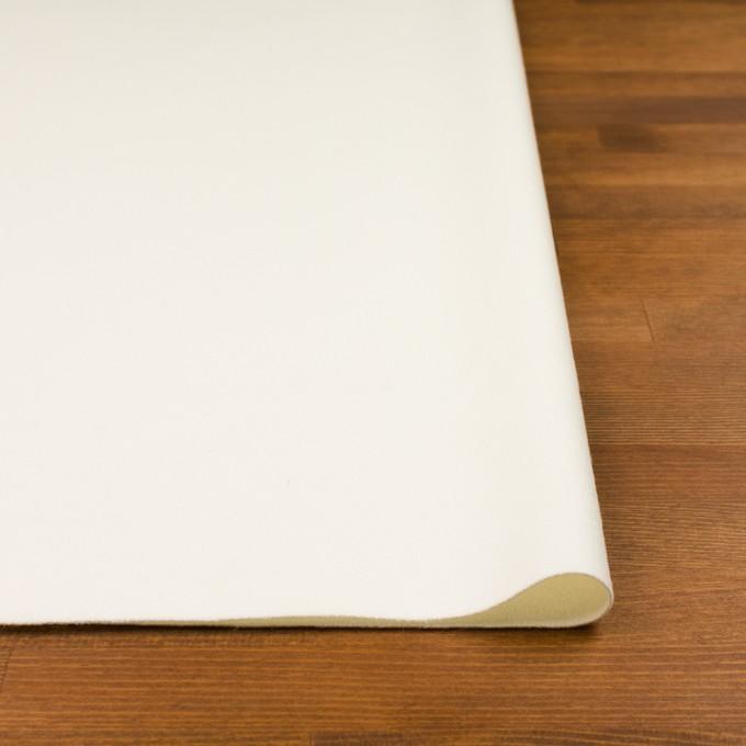 ウール&ナイロン×無地(ミルキーホワイト)×フラノ(フランネル) イメージ3