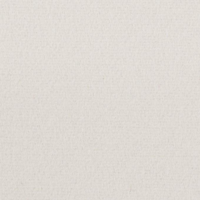 ウール&ナイロン×無地(パールグレー)×フラノ(フランネル) イメージ1