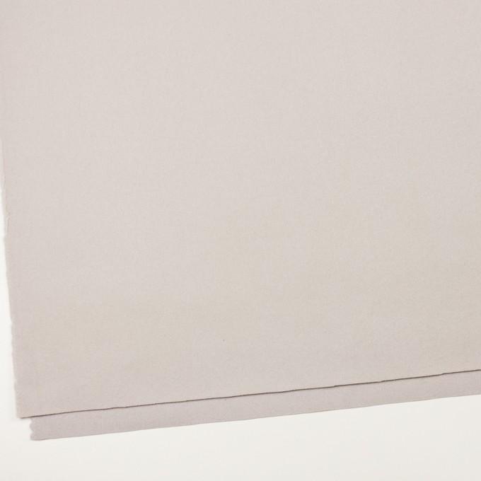 ウール×無地(オイスターグレー)×フラノ(フランネル) イメージ2