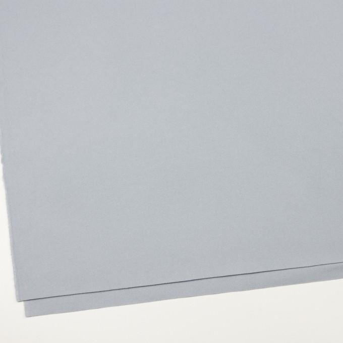 ウール×無地(サックスグレー)×フラノ(フランネル) イメージ2