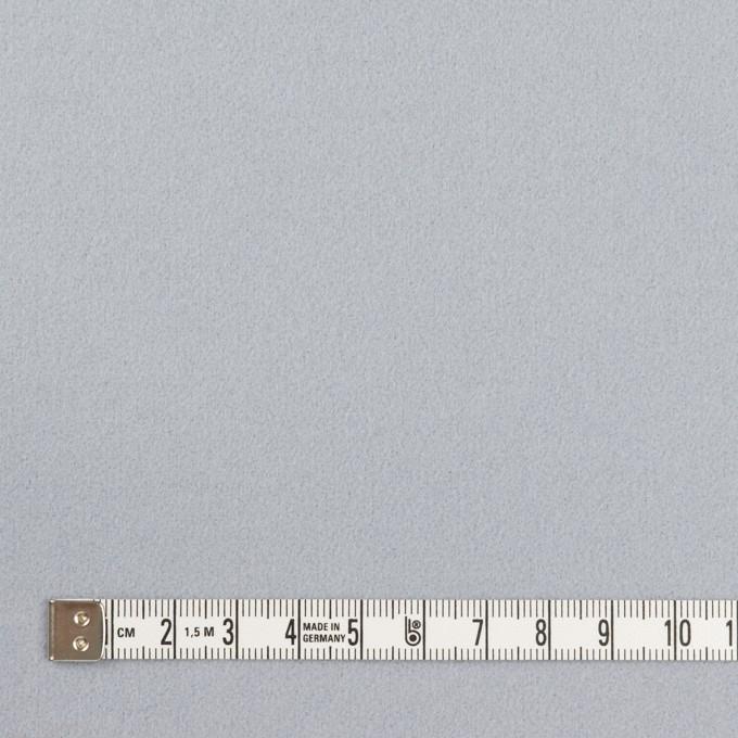 ウール×無地(サックスグレー)×フラノ(フランネル) イメージ4