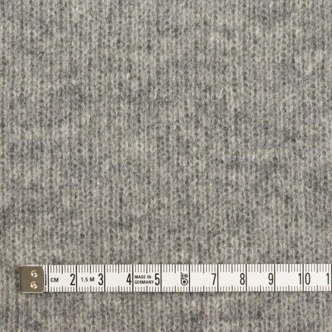 ウール&コットン×無地(グレー&チャコールグレー)×Wニット_全2色 イメージ4