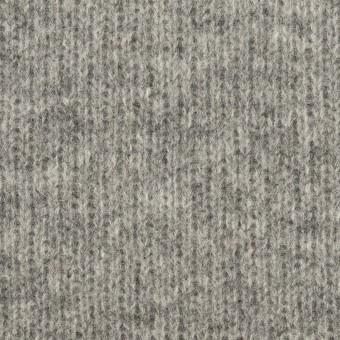 ウール&コットン×無地(グレー&チャコールグレー)×Wニット_全2色
