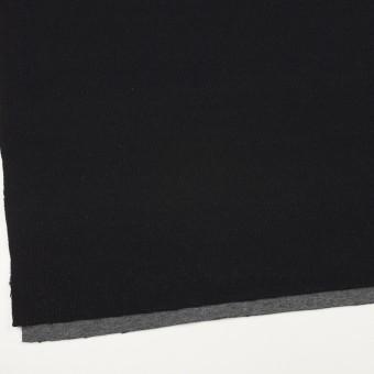 ウール&コットン×無地(ブラック&チャコールグレー)×Wニット_全2色 サムネイル2