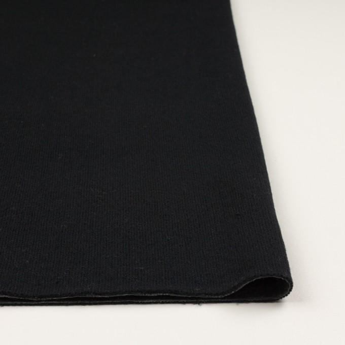 ウール&コットン×無地(ブラック&チャコールグレー)×Wニット_全2色 イメージ3