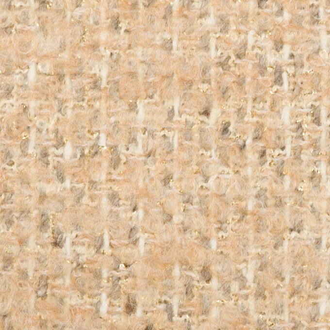 ウール&ナイロン混×ミックス(シャンパンゴールド)×ファンシーツイード イメージ1