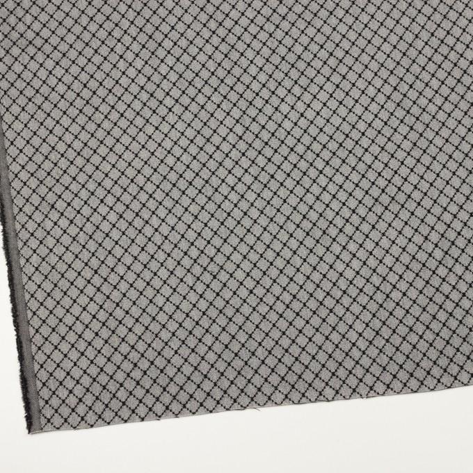 ウール×小紋(グレー&ブラック)×ジャガード イメージ2