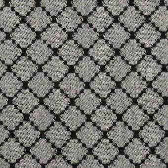 ウール×小紋(グレー&ブラック)×ジャガード