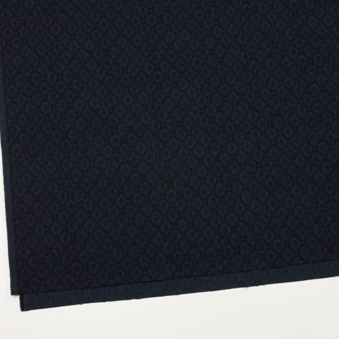 テンセル&アクリル混×小紋(ダークネイビー)×ジャガード イメージ2