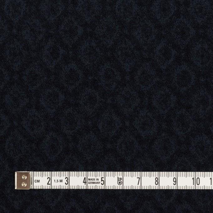 テンセル&アクリル混×小紋(ダークネイビー)×ジャガード イメージ4