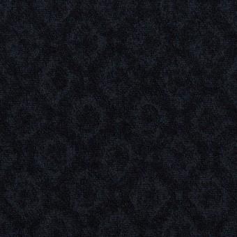 テンセル&アクリル混×小紋(ダークネイビー)×ジャガード