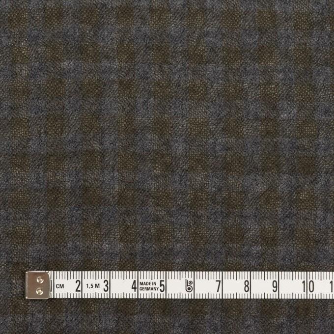 ウール×チェック(ブルーグレー&チャコール)×ガーゼ イメージ4