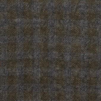 ウール×チェック(ブルーグレー&チャコール)×ガーゼ サムネイル1