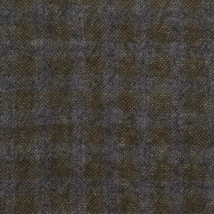 ウール×チェック(ブルーグレー&チャコール)×ガーゼ イメージ1