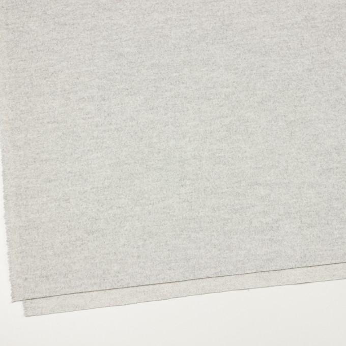 ウール&アンゴラ×無地(ライトグレー)×ビーバー イメージ2