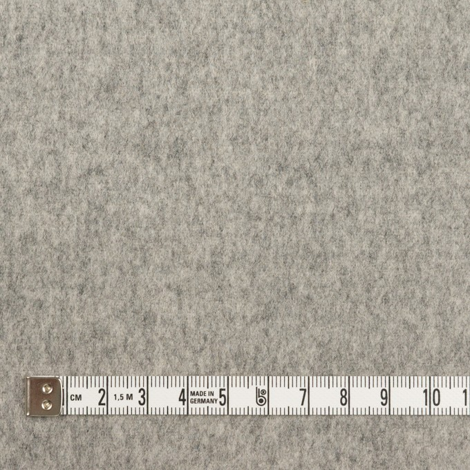 ウール×無地(グレー)×ソフトメルトン イメージ4