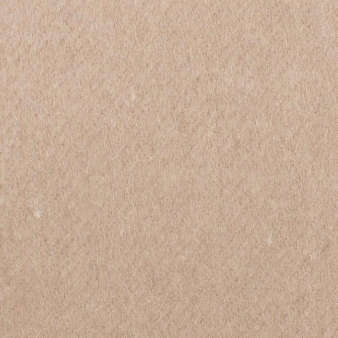 ウール×無地(オートミール)×フラノ(フランネル) イメージ1