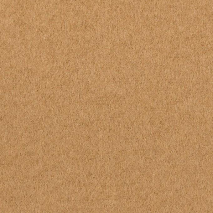 ウール&ナイロン×無地(チャイ)×ソフトメルトン イメージ1