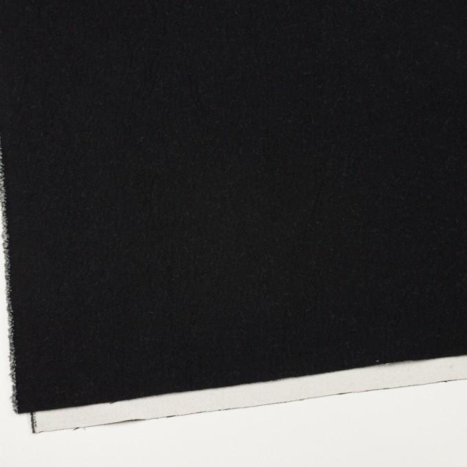 ウール&コットン×無地(ブラック&アイボリー)×二重織 イメージ2